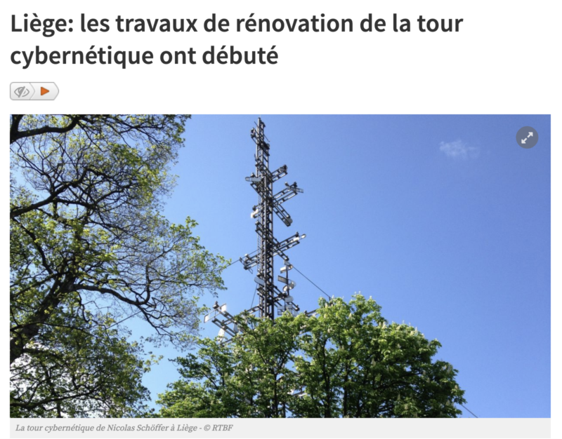 RTBF – Article on the Cybernetic Tower