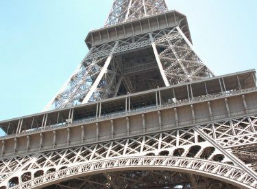 The Eiffel Tower and its two new pavilions